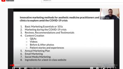 Innovative marketing methods for aesthetic medicine practitioners and clinics amid the COVID-19 crises